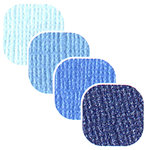 Bazzill Basics - Bazzill Bling - 4 Colors - 12x12 Cardstock - Crystal Blue Bling