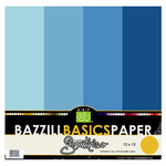 Bazzill Basics - Bazzill Smoothies - 4 Colors - 12x12 Cardstock - Island Breeze