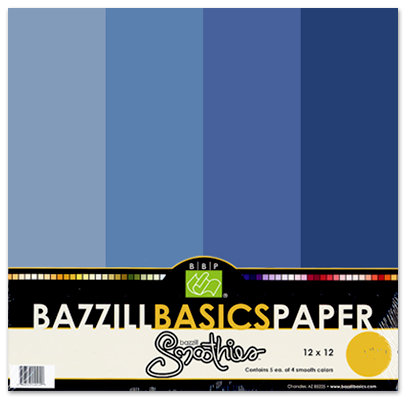 Bazzill Basics - Bazzill Smoothies - 4 Colors - 12x12 Cardstock - Huckleberry Pie