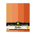 Bazzill Basics - Bazzill Smoothies - 4 Colors - 8.5x11 Cardstock - Tangerine Blast, CLEARANCE