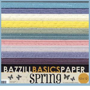 Bazzill Basics - 12x12 Cardstock Multipack - Spring