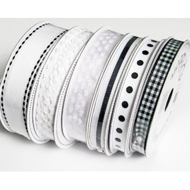 Bazzill Basics - Ribbon Bulk Pack - 90 Yards - White, CLEARANCE