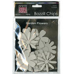 Bazzill - Chips - Die Cut Chipboard Shapes - Garden Flowers