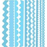 Bazzill Basics - Just the Edge - 12 Inch Cardstock Strips - Atlantic, CLEARANCE