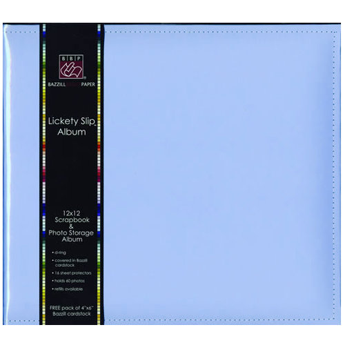 Bazzill Basics - Lickety Slip - 12x12 D-Ring Album - Skylar