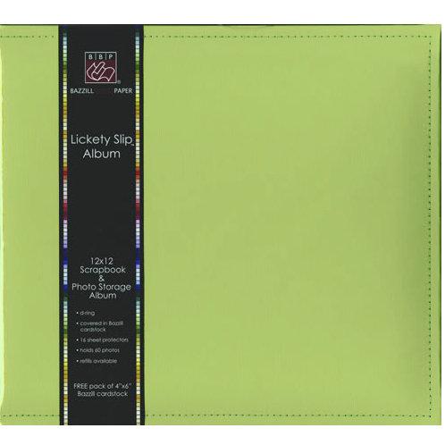 Bazzill - Lickety Slip - 12x12 D-Ring Album - Parakeet