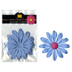 Bazzill Basics - Paper Flowers - Gerbera 4 Inch - Slate Blue, CLEARANCE