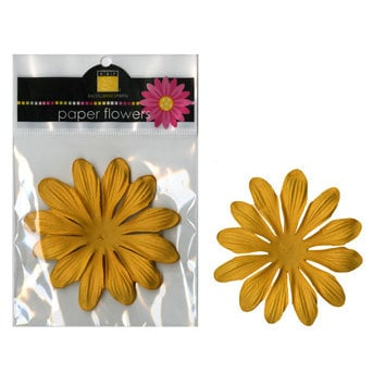Bazzill Basics - Paper Flowers - Gerbera 3 Inch - Candle, CLEARANCE
