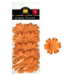 Bazzill Basics - Paper Flowers - Primula 1.5 Inch - Creamsicle