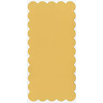 Bazzill Basics - 5.5x11.5 Rectangle Scalloped Cardstock - Candlelight, CLEARANCE