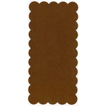 Bazzill Basics - 5.5x11.5 Rectangle Scalloped Cardstock - Geneva, CLEARANCE