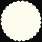 Bazzill Basics - 12x12 Medium Scalloped Circle Cardstock - Cream Puff