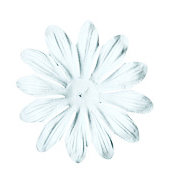 Bazzill Basics - Paper Flowers - 4 Inch Gerbera - White, CLEARANCE