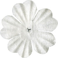 Bazzill Basics - Paper Flowers - 1.5 Inch Primula - White, CLEARANCE