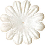 Bazzill Basics - Paper Flowers - 0.75 Inch Bachelor Button - White, CLEARANCE