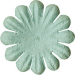 Bazzill Basics - Paper Flowers - 0.75 Inch Bachelor Button - Aqua, CLEARANCE