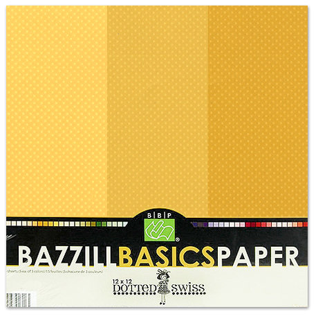 Bazzill - Dotted Swiss - 12 x 12 Cardstock Pack - 15 Sheets - Honey Trio