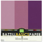 Bazzill - Dotted Swiss - 12 x 12 Cardstock Pack - 15 Sheets - Plum Pudding Trio