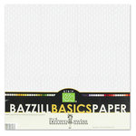 Bazzill - Dotted Swiss - 12 x 12 Cardstock Pack - 25 Sheets - Salt