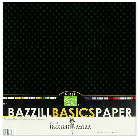 Bazzill - Dotted Swiss - 12 x 12 Cardstock Pack - 25 Sheets - Pepper