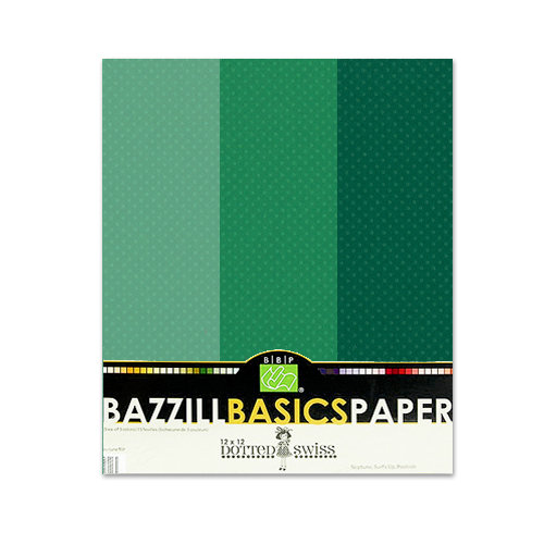 Bazzill - Dotted Swiss - 8.5 x 11 Cardstock Pack - 15 Sheets - Deep Sea Trio