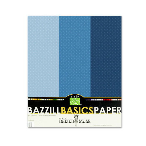 Bazzill - Dotted Swiss - 8.5 x 11 Cardstock Pack - 15 Sheets - Neptune Trio