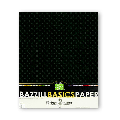 Bazzill - Dotted Swiss - 8.5 x 11 Cardstock Pack - 25 Sheets - Pepper