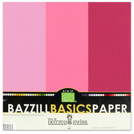 Bazzill - Dotted Swiss - 12 x 12 Cardstock Pack - 15 Sheets - Pirouette Trio