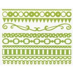 Bazzill Basics - Just the Edge III - 12 Inch Cardstock Strips - Lemon Lime, CLEARANCE
