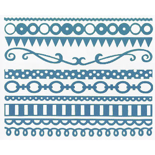 Bazzill Basics - Just the Edge III - 12 Inch Cardstock Strips - Artesian Pool, CLEARANCE