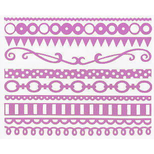 Bazzill Basics - Just the Edge III - 12 Inch Cardstock Strips - Pajama, CLEARANCE