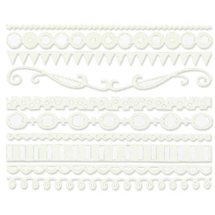 Bazzill - Just the Edge III - 12 Inch Cardstock Strips - Lily White