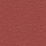 Bazzill - 12 x 12 Embossed Cardstock - Vintage Vines - Ruby Slipper