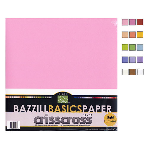 Bazzill - Criss Cross - 12 x 12 Cardstock Pack - 30 Sheets - Criss Cross Light