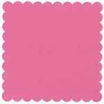 Bazzill Basics - 12 x 12 Square Scalloped Cardstock - Dotted Swiss - Ballet