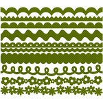 Bazzill Basics - Just The Edge - 12 Inch Cardstock Strips - Dotted Swiss - Clover Leaf, CLEARANCE