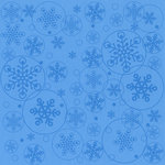 Bazzill Basics - 12 x 12 Glazed Cardstock - Blizzard - Ocean