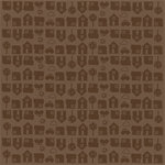 Bazzill Basics - 12 x 12 Glazed Cardstock - Neighborhood - Walnut