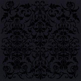 Bazzill - 12 x 12 Glazed Cardstock - Wallpaper - Raven