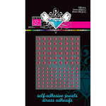 Bazzill Basics - Self Adhesive Jewels - 3 mm and 4 mm - Chablis, CLEARANCE