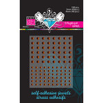 Bazzill Basics - Self Adhesive Jewels - 3 mm and 4 mm - Tangerine Blast, CLEARANCE