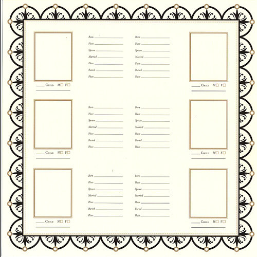 Bazzill Basics - Heritage Collection - 12 x 12 Paper - Family Group Chart 2