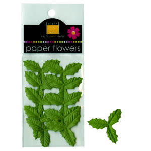 Bazzill - Paper Leaves - Mini Holly