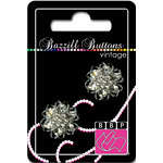 Bazzill Basics - Vintage Collection - Jewel Buttons - Bling - Alexandria, CLEARANCE