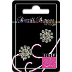 Bazzill Basics - Vintage Collection - Jewel Buttons - Bling - Anastasia, CLEARANCE