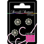 Bazzill Basics - Vintage Collection - Jewel Buttons - Bling - Sophia, CLEARANCE