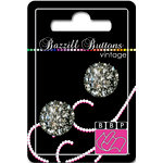 Bazzill Basics - Vintage Collection - Jewel Buttons - Bling - Catherine, CLEARANCE