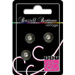Bazzill Basics - Vintage Collection - Jewel Buttons - Bling - Juliet