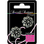 Bazzill Basics - Vintage Collection - Jewel Buttons - Bling - Charlotte, CLEARANCE