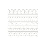 Bazzill Basics - Half The Edge Collection - 6 Inch Cardstock Strips - Bazzill White, CLEARANCE